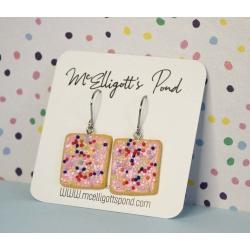 100's & 1000's biscuit dangle earrings