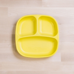 Re-Play Divided Plate – Yellow