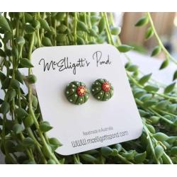 Cactus / succulent Stud Earrings