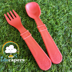 Re-Play Fork and Spoon Set – Red