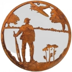 WALL ART METAL LEST WE FORGET