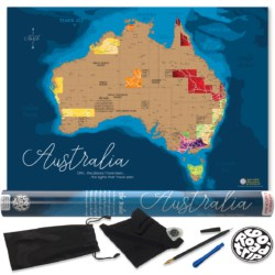 Australia Scratch Map poster