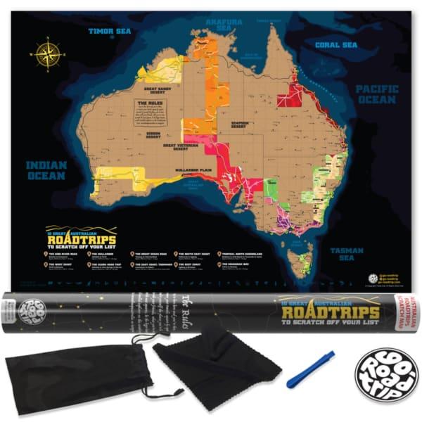 Australia roadtrip scratch map