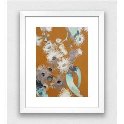 Mustard Gum Flowers Print
