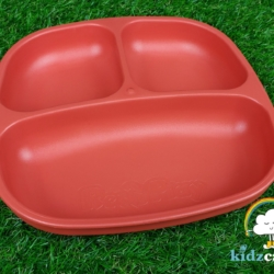 Re-Play Divided Plate – Red