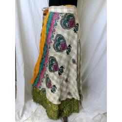 Small Sari Wrap Skirt (SKIRT002)