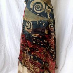 Medium Sari Wrap Skirt (SKIRT071)