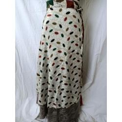 Medium Sari Wrap Skirt (SKIRT094)