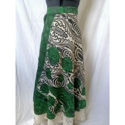 Small Sari Wrap Skirt (SKIRT097)