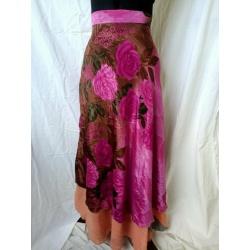 Small Sari Wrap Skirt (SKIRT098)