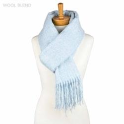 Wool Blend Scarf – Light Blue