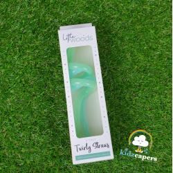 Twirly Straws – Aqua/Mint