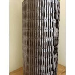 Stitched Paper Grow Vase Mahogany 12cm x 28cm