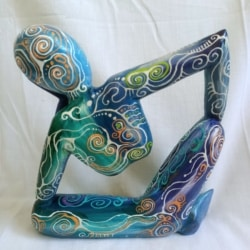 Abstract Sitting Statue (WS0002)