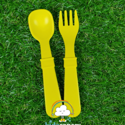 Re-Play Fork and Spoon Set – Yellow