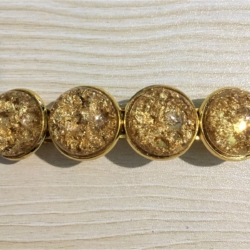 Classic Golden Glitter Barrettes – 6 Colours – Suits most hair types