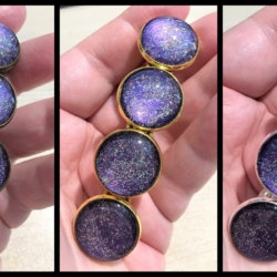 Pretty Metallic Purple with Glitter Barrettes – 3 Colours – Suits most hair types