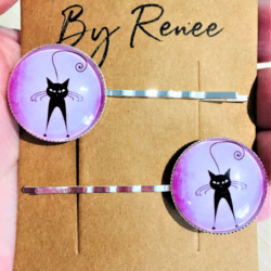 Cute Cat Silhouette Hairpins / Clips (sold in pairs) – 5 designs