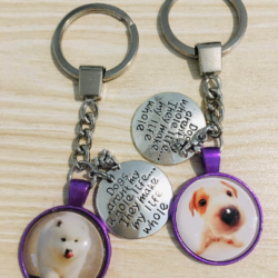 Cute Jack Russell Puppy – Dogs aren't my whole life, but they make my life whole – Key Chain