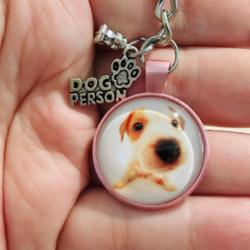 Cute Jack Russell Puppy – Dog Person – Key Chain