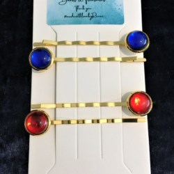 Classic Bright Colour Hair Pins / Bobby Pins- Gold – suits most hair types (Sold as the panel pictured)