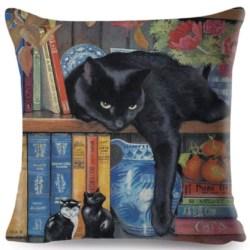 Cushion. Black cat