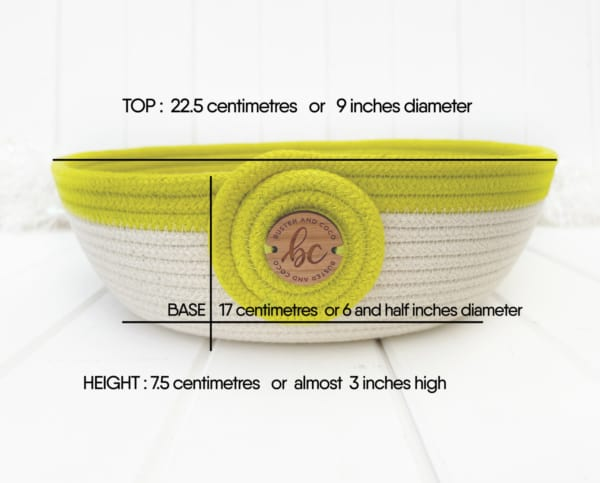 Buster and Coco chartreuse blocked bowl