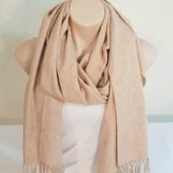Wool Blend Scarf – Camel Marle