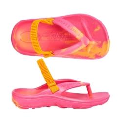 Aussies Soles – Orange/Fuchsia – Size 21/22 – Starfish Orthotic Thongs Junior