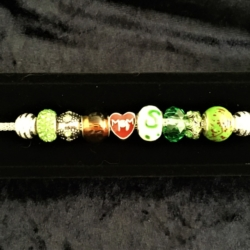 Mother's Day Theme Charm Bracelet – Green – Gift Boxed