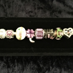 Mother's Day Theme Charm Bracelet – Purple – Gift Boxed