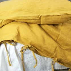 Pure French Linen Duvet Cover Set – Mustard