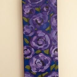 Abstract Purple Lisianthus Flower Painting Kim Magee Original Art Home Décor New