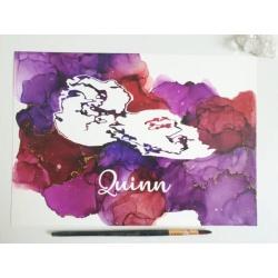 Ultrasound Art in Purples