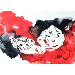 Ultrasound Art in Reds