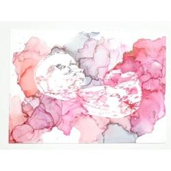 Ultrasound Art in Soft Pinks