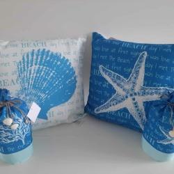 Ocean inspired cushions & doorstops