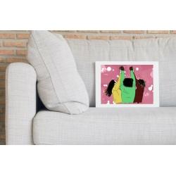 Women Power Wall Print