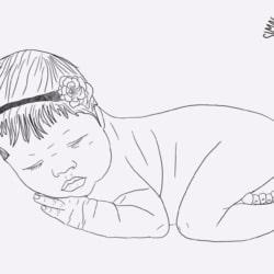 Digital Outline Portrait (Newborn)