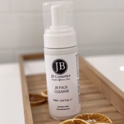 Facial cleanser with lactic acid