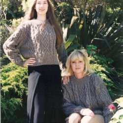 Handknitted ladies/mens garments. 60% Angora mohair/40% wool. Natural colours.