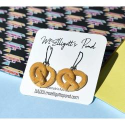 Pretzel Dangle Earrings