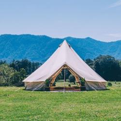 6m Canvas Bell Tent (Double Door)