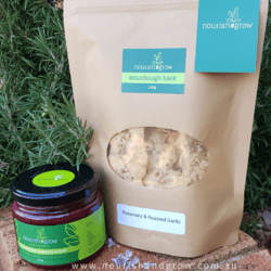 Combination Pack – Caramelised Beetroot Relish (GF – 330g) & Sourdough Bark – Condiment