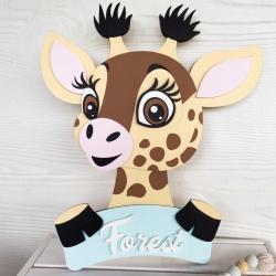 Giraffe name sign
