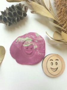 happy emotion, emotions, playdough tools, playdough stamps