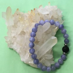 Child's Angelite and Lava Stone Aromatherapy Diffuser Bracelet – Handcrafted – Communication and Self Expression