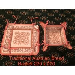 Traditional Austrian Fabric Bread Basket
