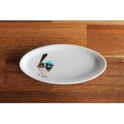 Superb Fairywren Upcycled Trinket Dish