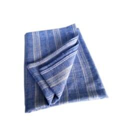 Linen Beach & Picnic Towel Multistripe – Blue-White